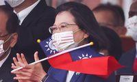 Taivano lyderė sako tikinti, kad prireikus JAV gins salą