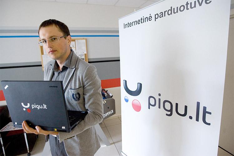 """""""Pigu.lt"""": internetinė parduotuvė, e. prekyba, elektroninė komercija"""