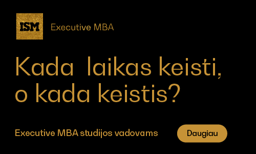 ISM Vadovų MBA Studijos