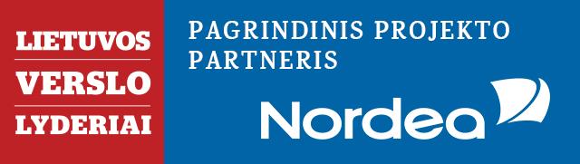 Pagrindinis projekto partneris - bankas Nordea