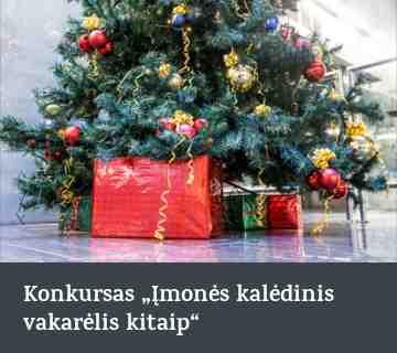 """Konkursas """"Įmonės kalėdinis vakarėlis kitaip"""""""